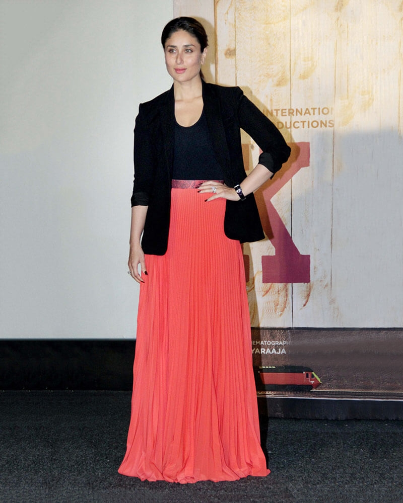 Kareena Kapoor Coral Rimple Skirt