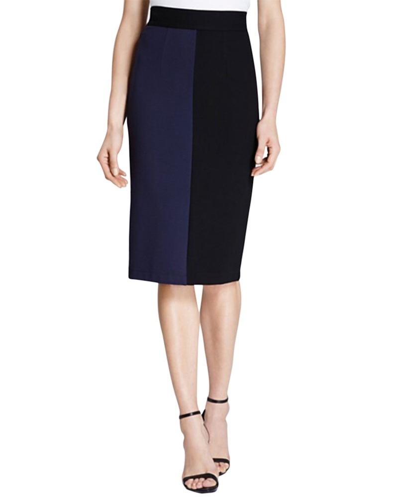 Paneled Pencil Skirt