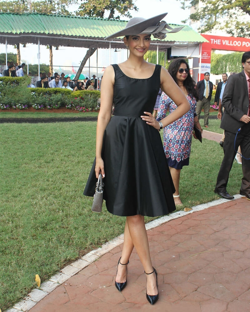 Sonam Kapoor Inky fit & flare dress