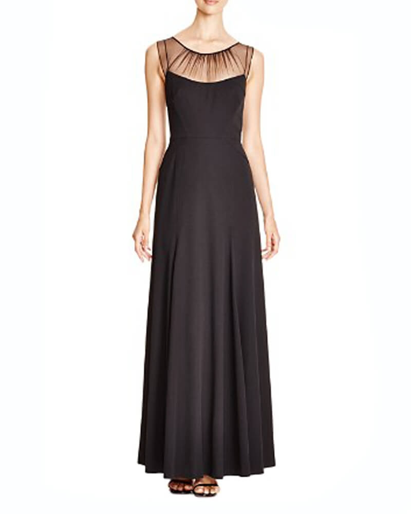 Vera Wang Illusion Neck Gown