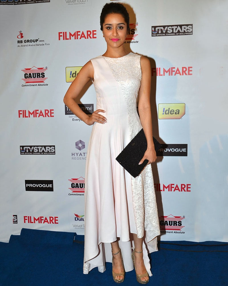 Shraddha Kapoor - White High Low  Dress