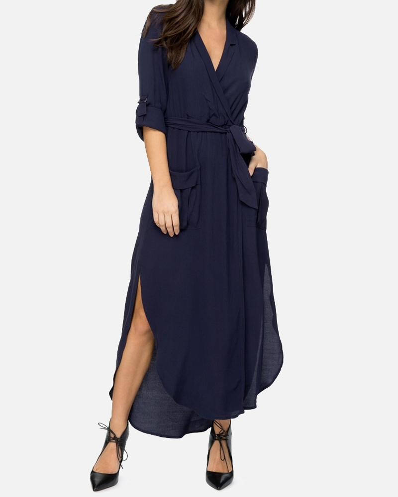 Midnight Blues Midi Dress