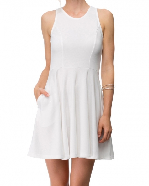 Moon Charms Dress- Off White