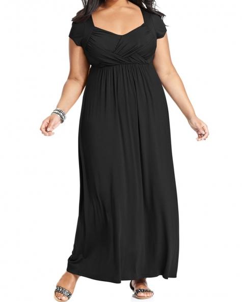 Black Flare Plus Size Dress