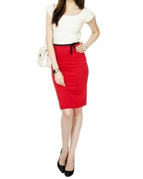 Red and White Timi Dress