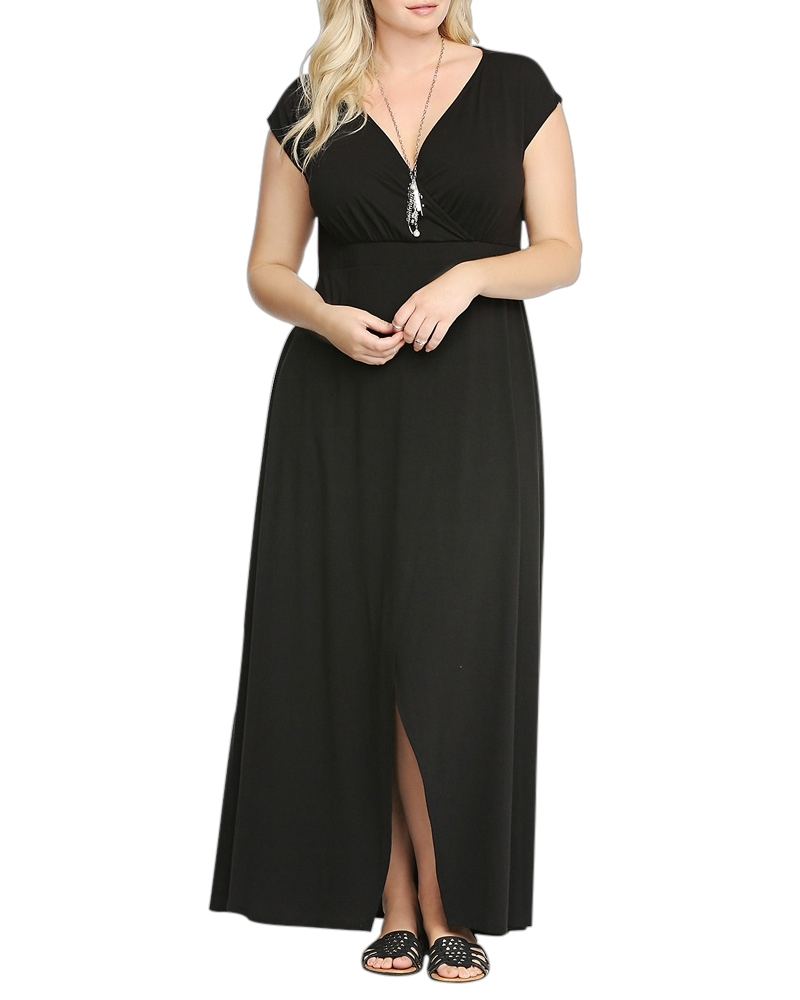 Blinding Black Magic  Maxi Dress