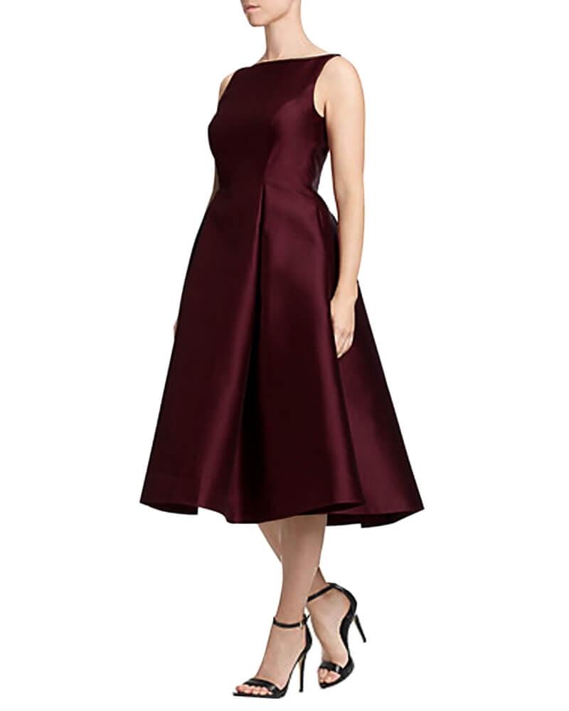 Amphoria Flared Satin Dress