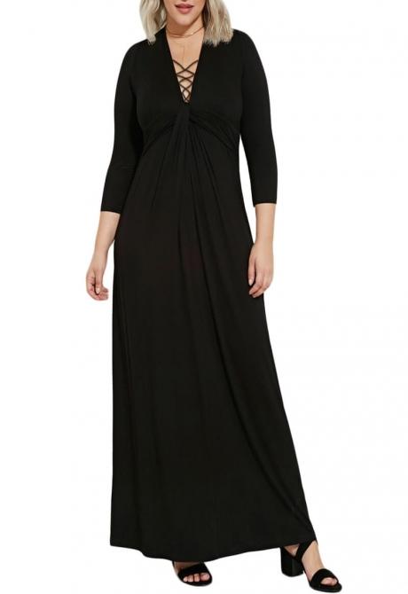 Twisted knot maxi dress