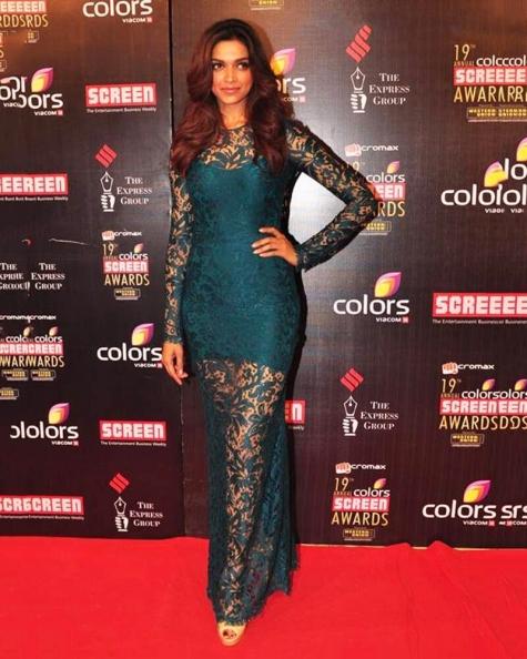 Deepika Padukone Twine Green Maxi Dress