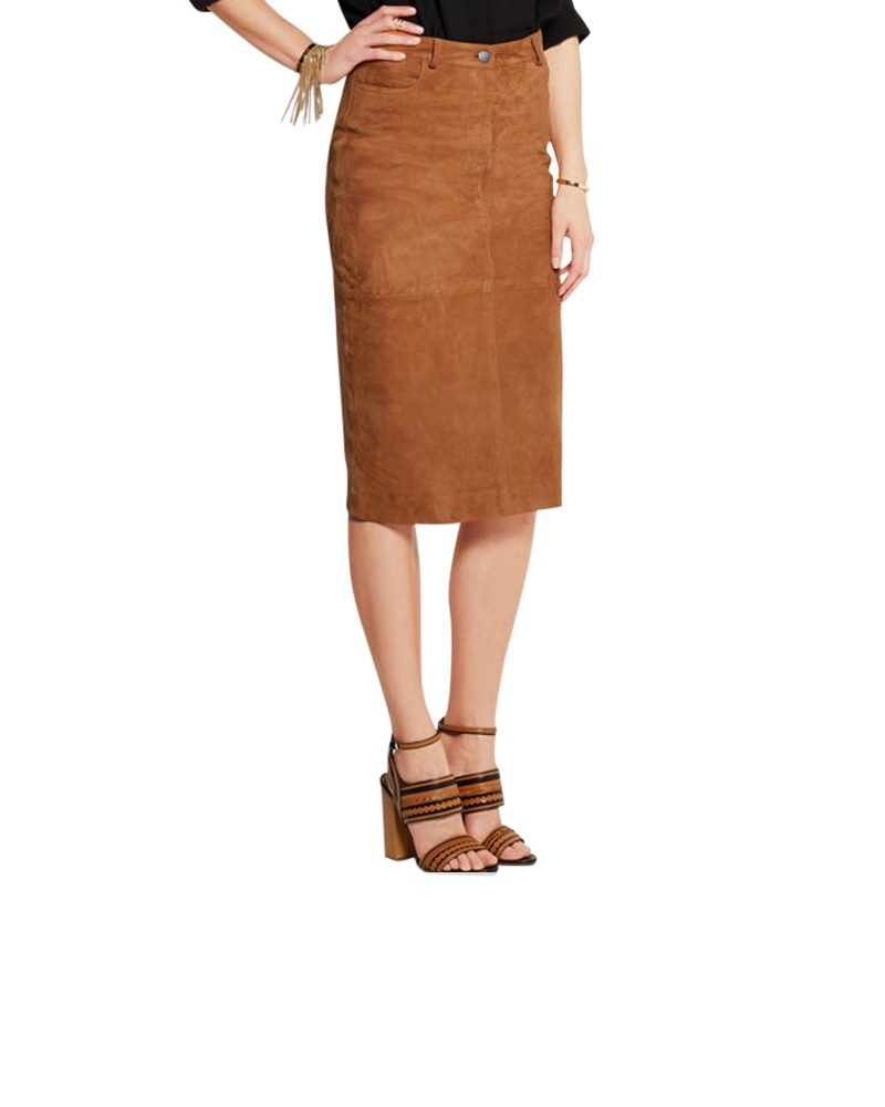 Trapezia Suede Skirt