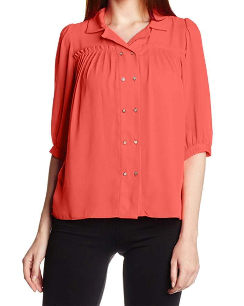 Blush Double Buttoned Shirt