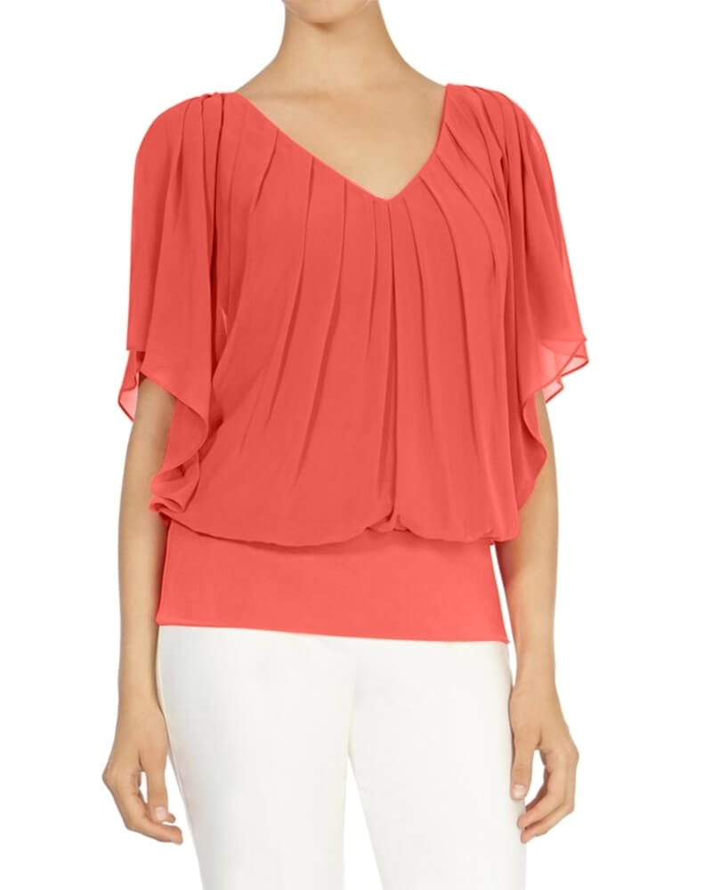 Coral Blossom Top