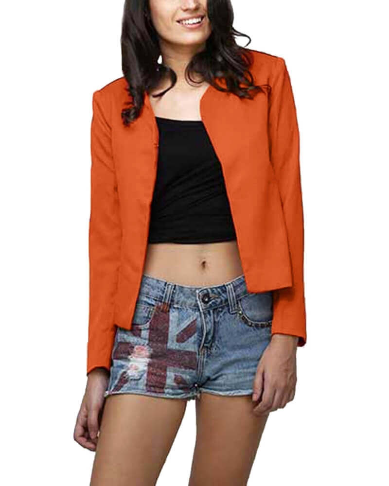 Orange Top Blazer