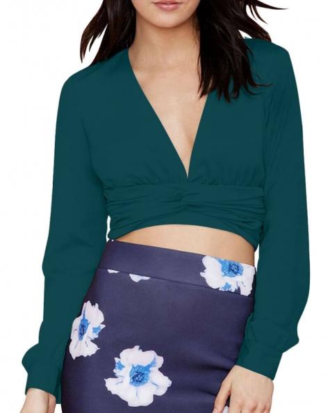 Paola bow tie crop top
