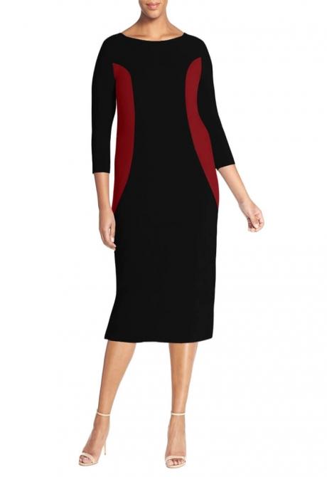 Hermione Bateau neck dress