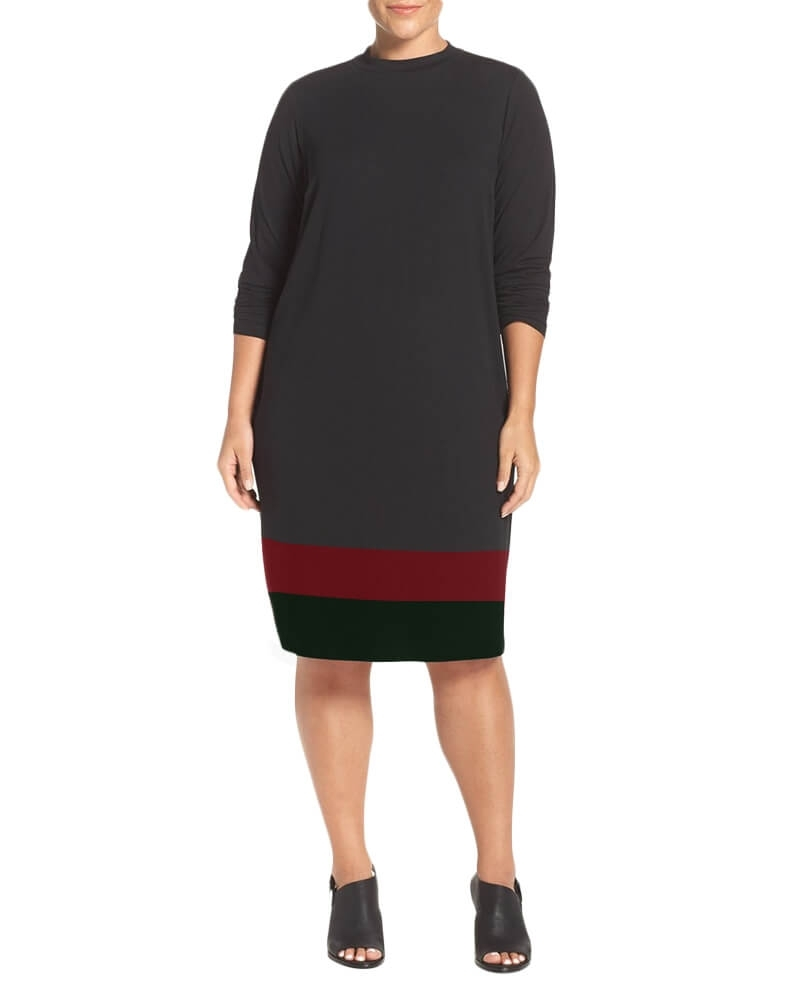 Ember funnel collar dress