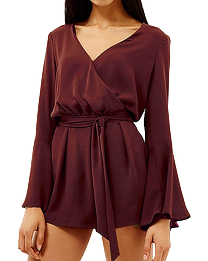 Martha V Neck Romper