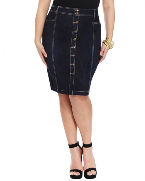 Emily Denim pencil skirt