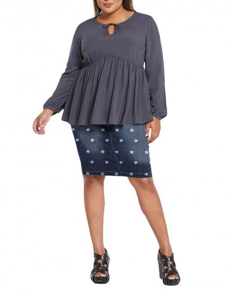 Marshall medium wash denim skirt