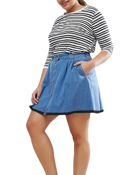 Wren denim mini skirt