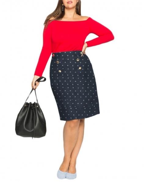 Ackard A line denim skirt