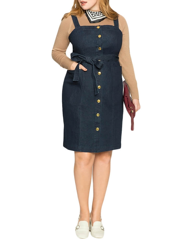 Hannah snap-up Denim dress