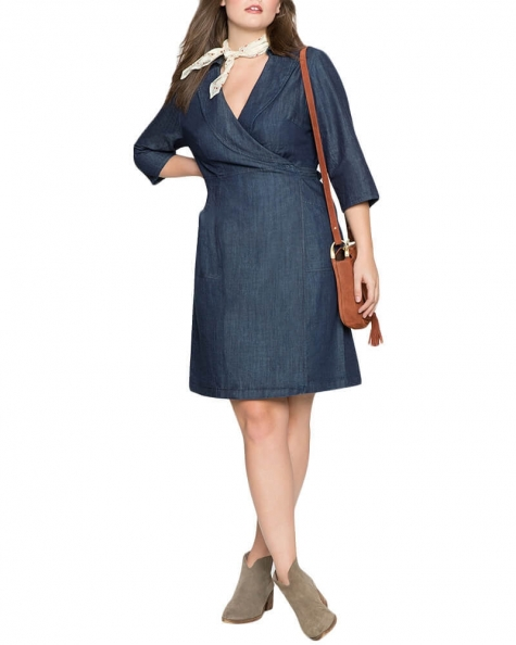 Sara wrap Denim dress