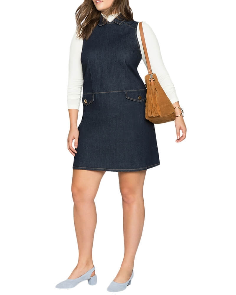 Rosewood collared Denim dress