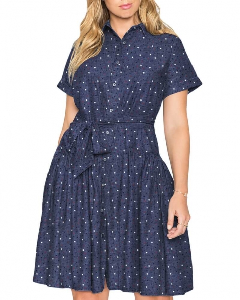 Randall girly gathered Denim dress