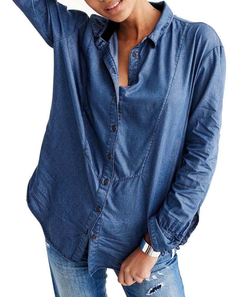 Maya tuxedo inspired Denim shirt