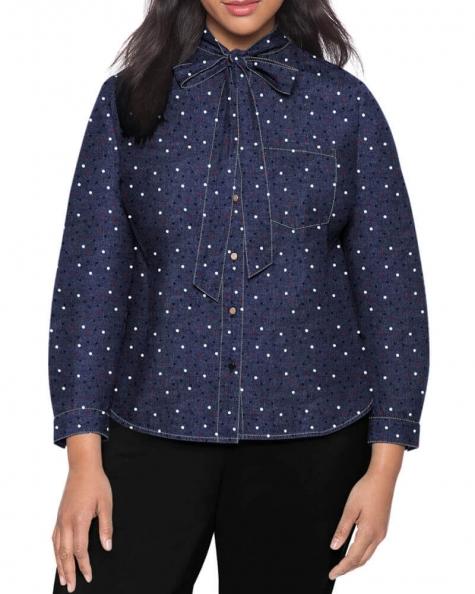 Melissa contrast stitch Denim shirt