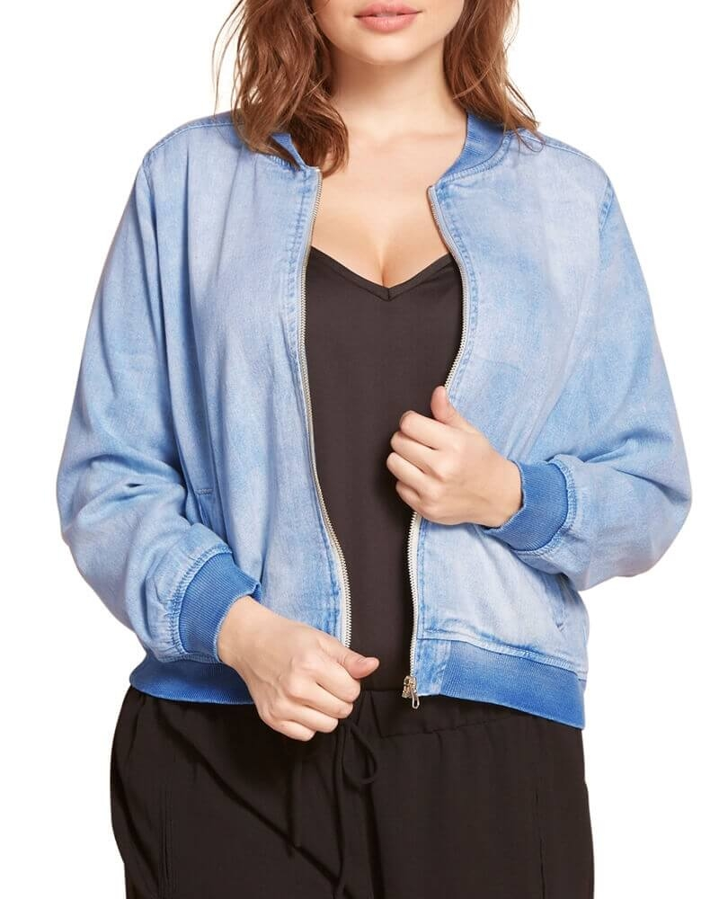 Jenna blue Denim bomber jacket