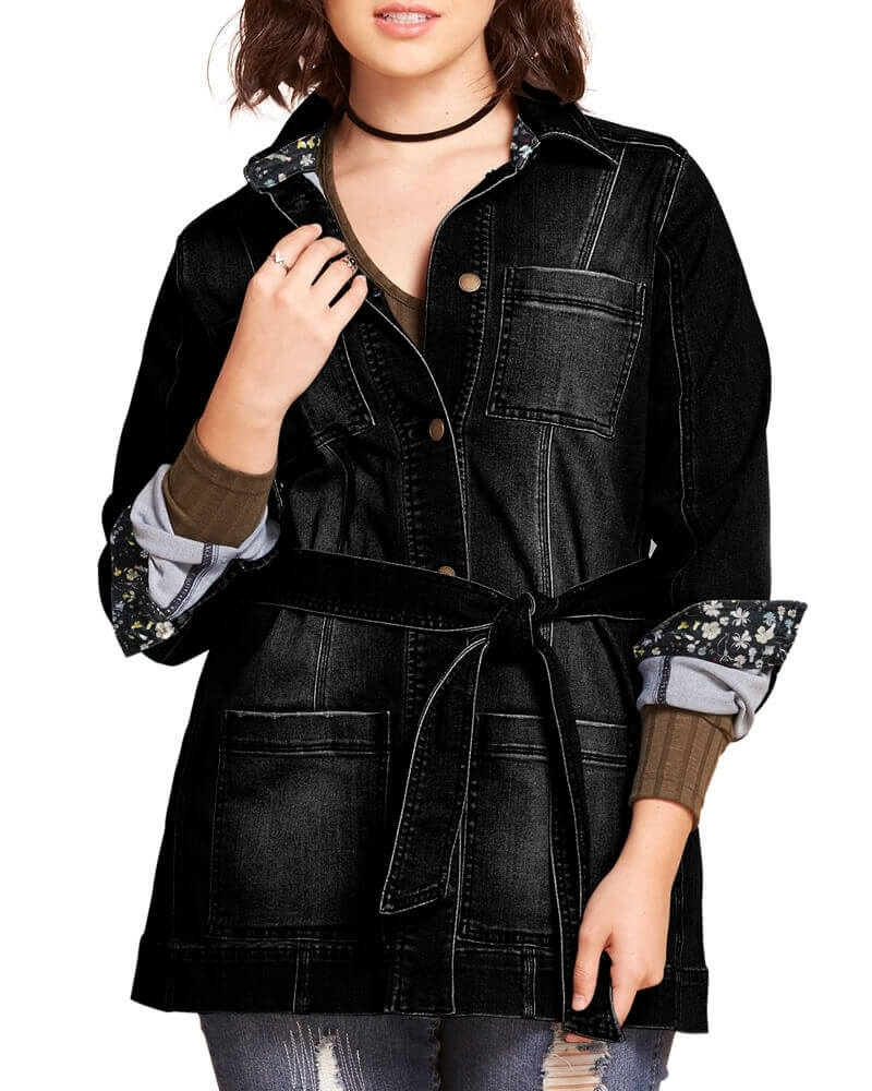 Claudia Denim shirt jacket