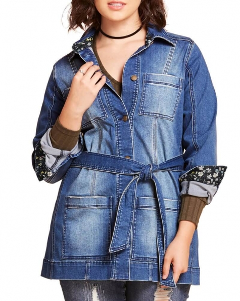 Claudia Denim shirt jacket