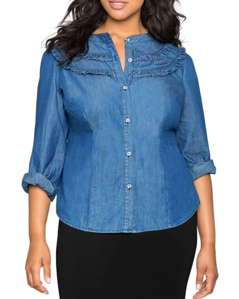 Cece Denim shirt