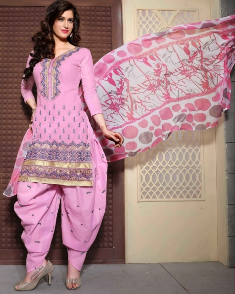 Opulent Light Pink Cotton Salwar Suit