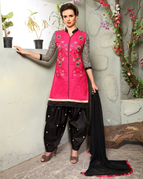 Graceful Pink Cotton Designer Salwar Suit