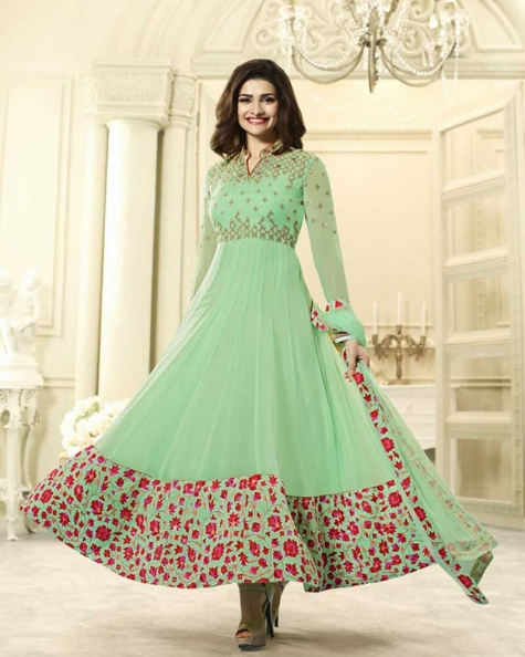 Enchanting Light Green Georgette Salwar Kameez