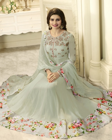 Gorgeous Grey Georgette Salwar Kameez