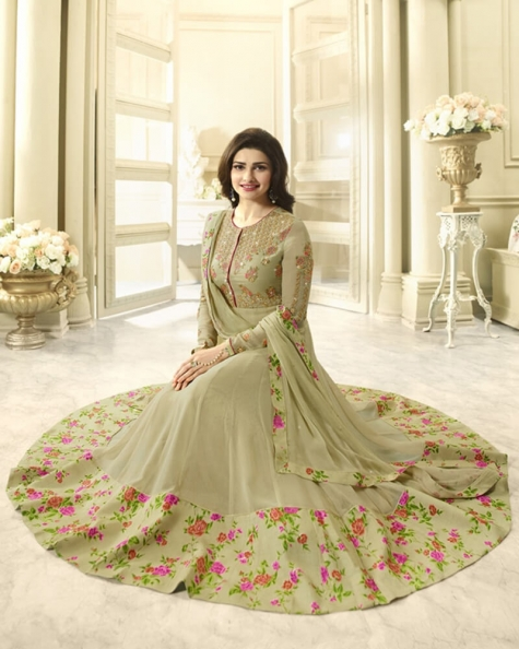 Tantalizing Tea Green Georgette Salwar Kameez