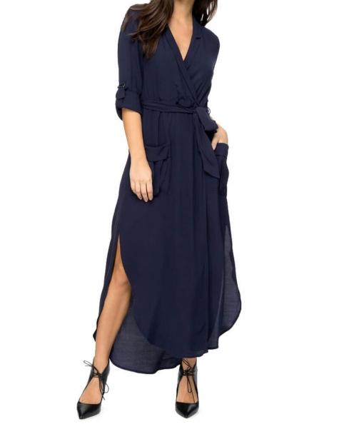 Midnight Blues Midi Dress