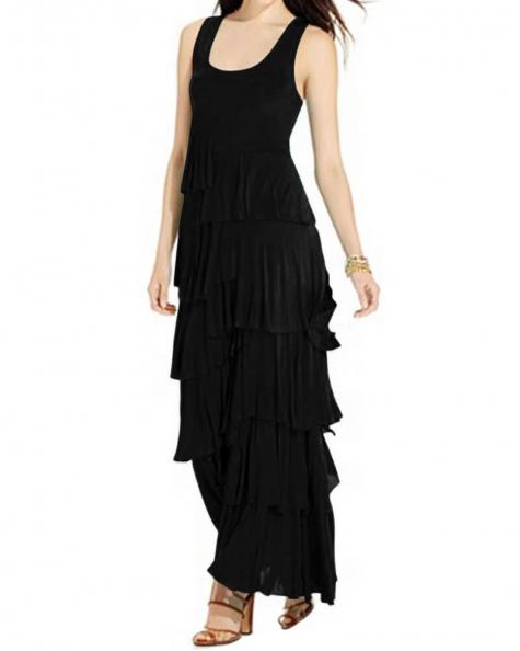 Graceful Black Maxi Dress
