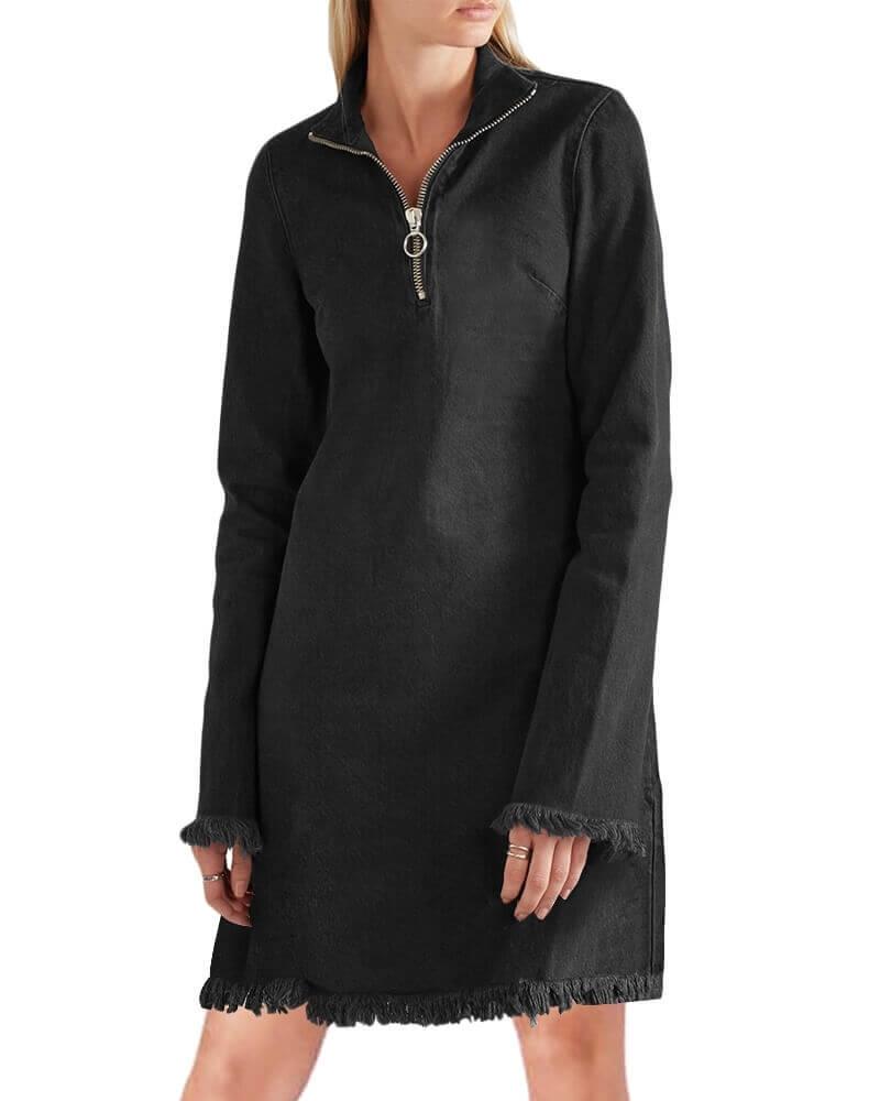 Amanda Frayed denim dress