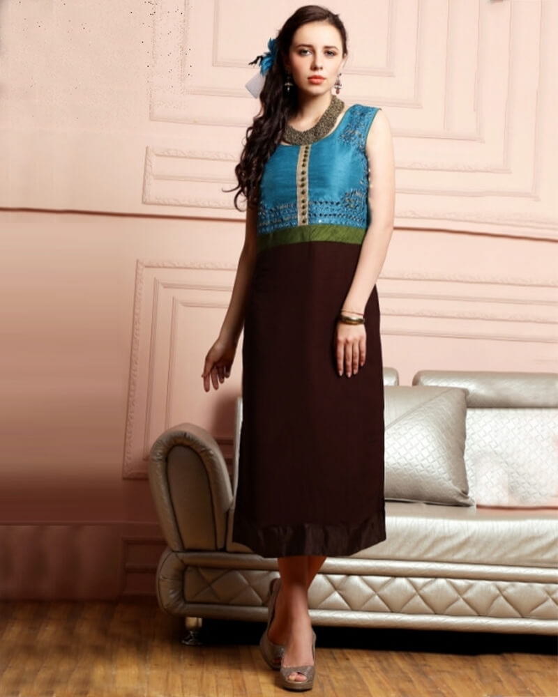 Embellished Partywear Georgette Fancy Kurti