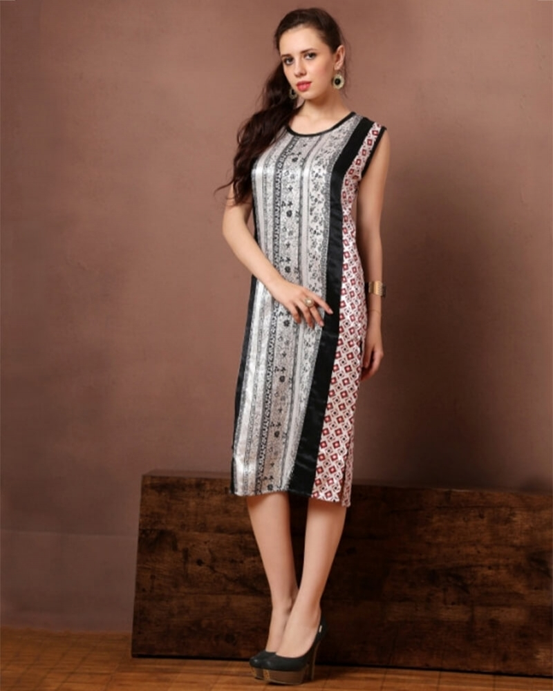 Elegant Multicolor Georgette Partywear Kurti