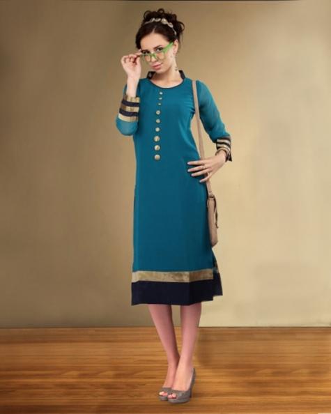 Designer Partywear Georgette Fancy Kurti