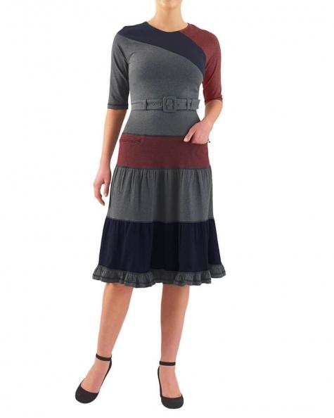 TERI COLOR BLOCK DRESS