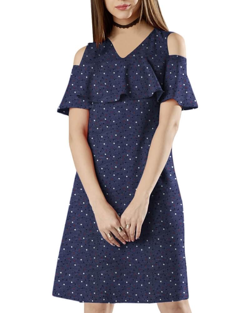 ELAINE COLD SHOULDER DRESS