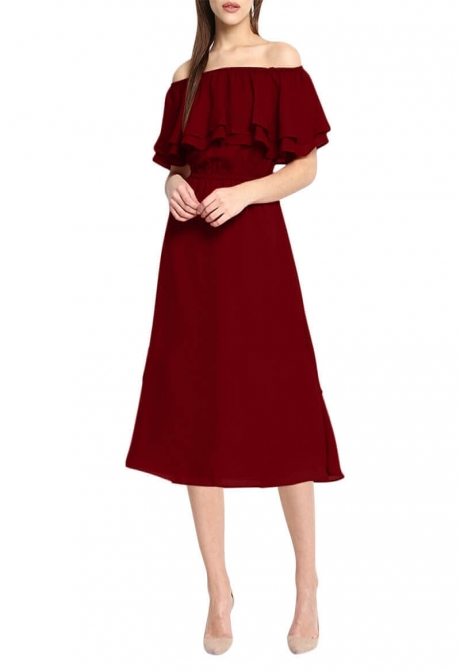 FIELD ROSE OFF SHOULDER DRESS