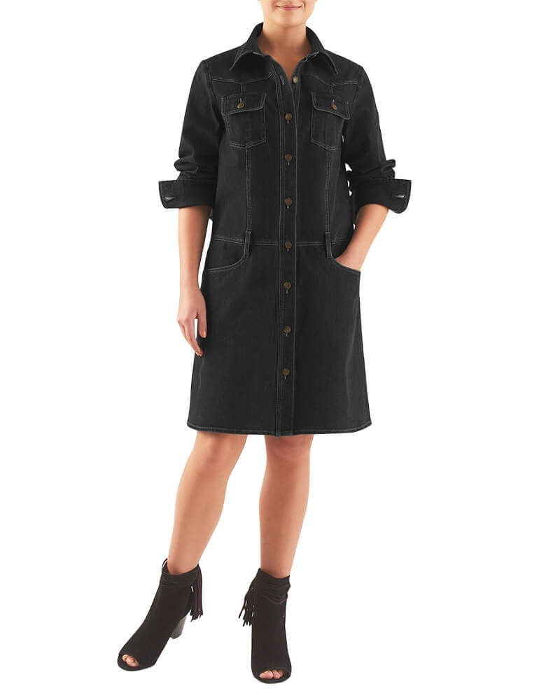 ALEXIS  DENIM DRESS